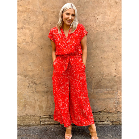 Aliza Jumpsuit Red