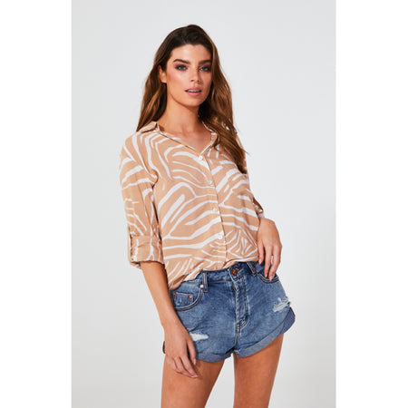 Maxwell Shirt Blush Zebra