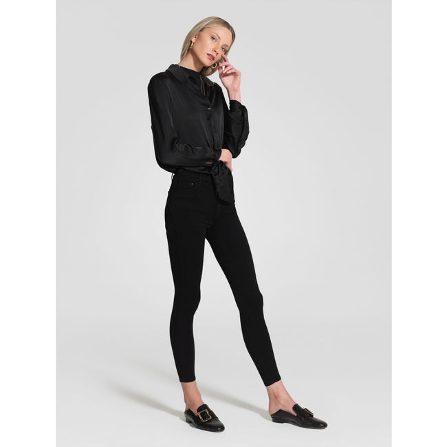 Cult Skinny Ankle BLACK SATEEN