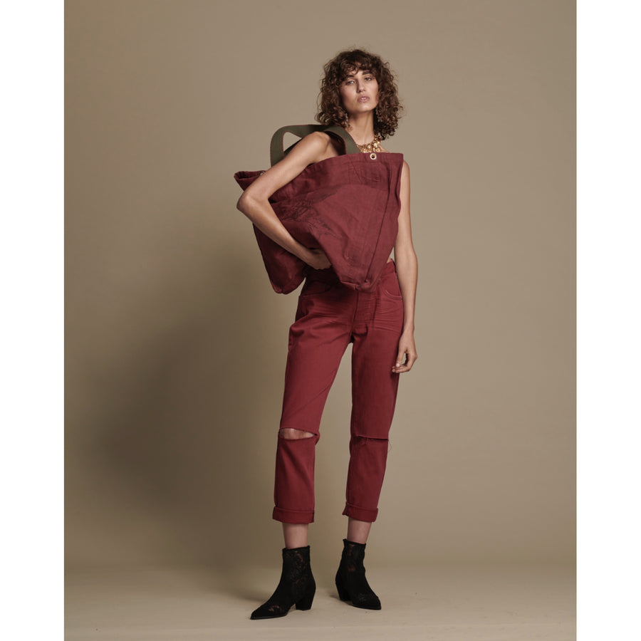Bordeaux Awesome Baggies High Waist Jean