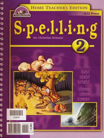BJU Spelling 2 Home Teacher's Edition (Updated 1st Ed.) - Learning Plus PH