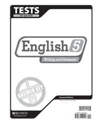 BJU English 5 Tests Answer Key (2nd ed.) (PH) - Learning Plus PH