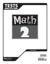 BJU Math 2 Tests (3rd ed.) (PH) - Learning Plus PH