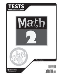 BJU Math 2 Tests Answer Key (3rd ed.) (PH) - Learning Plus PH