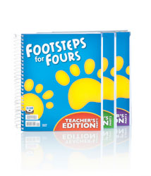 BJU K4 Footsteps for Fours Teacher's Edition with CD (2nd ed.) - Learning Plus PH