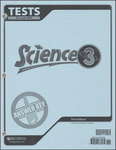 BJU Science 3 Tests Answer Key (3rd Ed.) (PH) - Learning Plus PH
