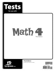 BJU Math 4 Tests (3rd ed.) (PH) - Learning Plus PH