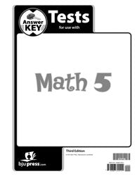 BJU Math 5 Tests Answer Key (3rd ed.) (PH) - Learning Plus PH