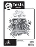 BJU Bible Truths 5 Tests Answer Key (4th ed.) (PH) - Learning Plus PH
