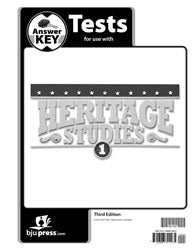 BJU Heritage Studies 1 Tests Answer Key (3rd ed.)