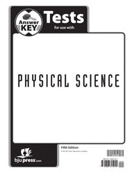BJU Physical Science Tests Answer Key 5th Ed.
