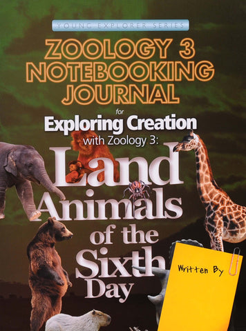 Exploring Creation: Zoology 3 (Land Animals) Notebooking Journal - Learning Plus PH