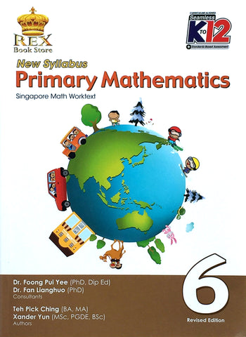 New Syllabus Primary Mathematics 6 Set (TB, TM) - Learning Plus PH