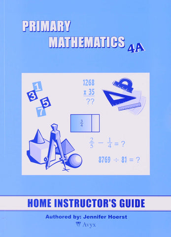 Primary Math Home Instructor's Guide 4A U.S. Edition - Learning Plus PH