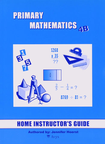 Primary Math Home Instructor's Guide 4B U.S. Edition - Learning Plus PH