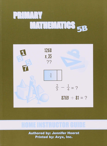 Primary Math Home Instructor's Guide 5B U.S. Edition - Learning Plus PH