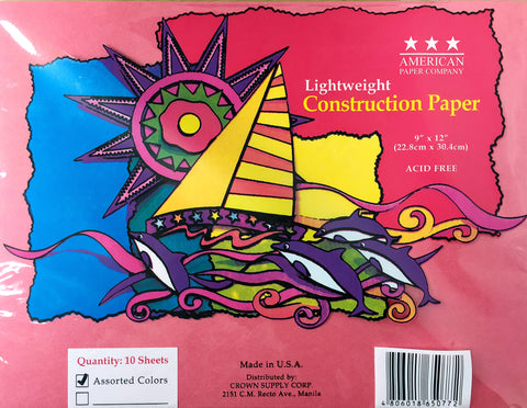Lightweight Construction Paper