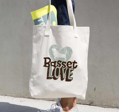 Basset Love Canvas Tote