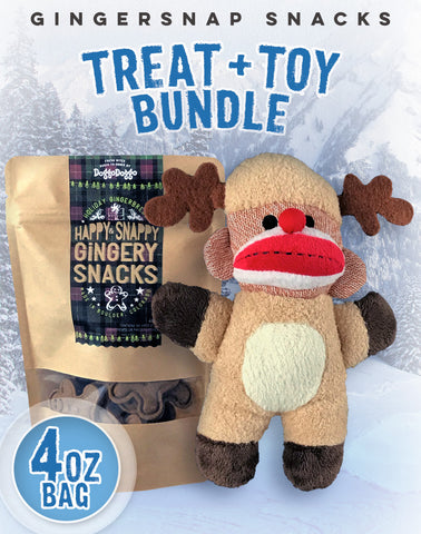 Gingersnap Snacks + Toy Bundle (4oz)