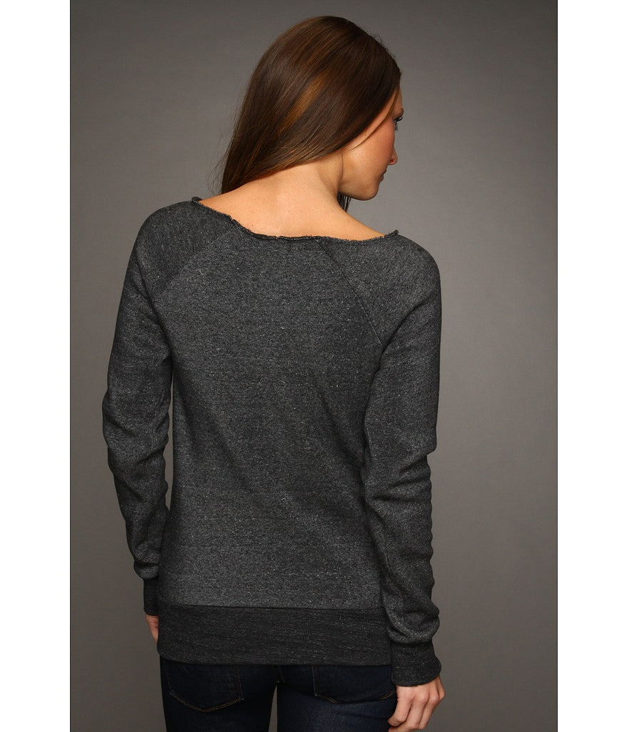 Mommin' Ain't Easy Eco Black Off Shoulder Sweatshirt