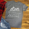 MOUNTAINS ARE CALLING MENS SHIRT