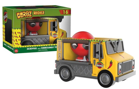 Marvel: Deadpool with Chimichanga Truck Dorbz Ridez - More Toys Malaysia