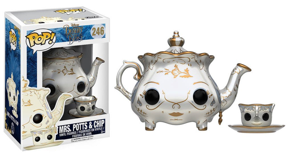 Disney: Beauty and the Beast - Mrs Potts & Chip Pop! Vinyl Figure - More Toys Malaysia