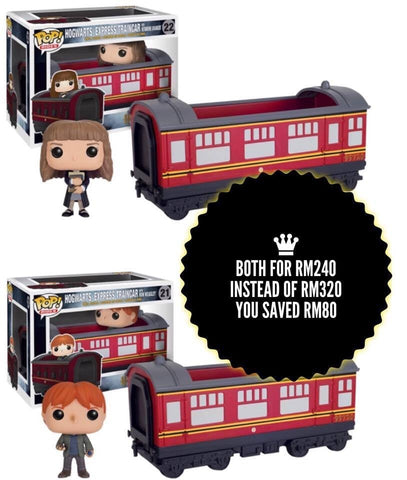 Harry Potter - Hogwarts Express Engine With Hermione Granger & Ron Weasley Pop! Ride Vinyl Figure - More Toys Malaysia