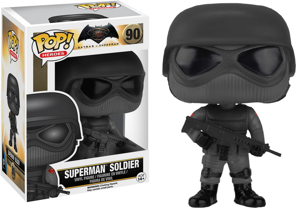 DC: Batman v Superman - Superman Soldier Pop! Vinyl Figure - More Toys Malaysia