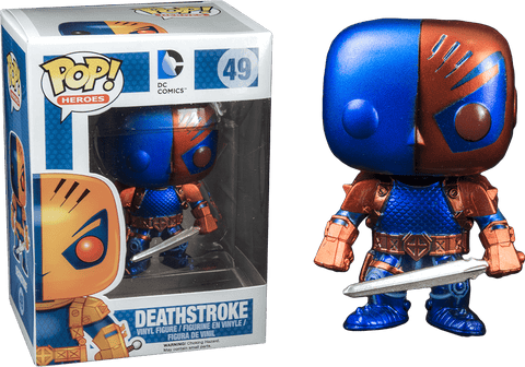 DC - Metallic Deathstroke Pop! Vinyl Figure - More Toys Malaysia