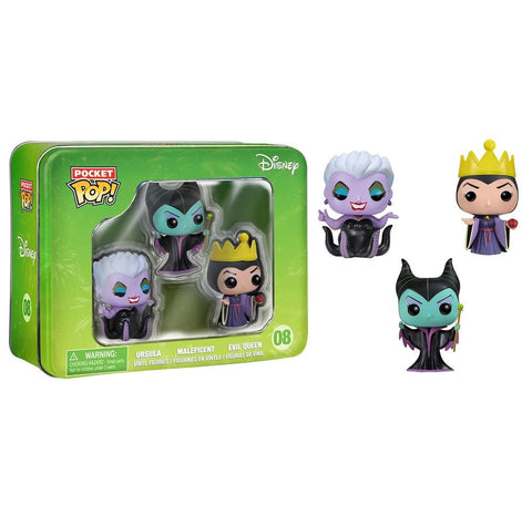 Disney: 3-Pack Tin - Classic Maleficent, Evil Queen, And Ursula - More Toys Malaysia