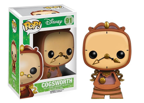 Disney Classic: Beauty and the Beast - Cogsworth Pop! Vinyl Figure - More Toys Malaysia