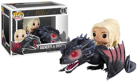 Game Of Thrones - Daenerys & Drogon Pop! Ride Vinyl Figure - More Toys Malaysia