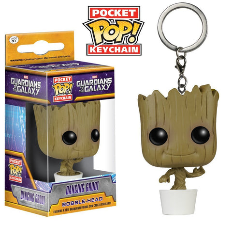 Guardians Of The Galaxy - Dancing Groot Pocket Pop! Keychain - More Toys Malaysia