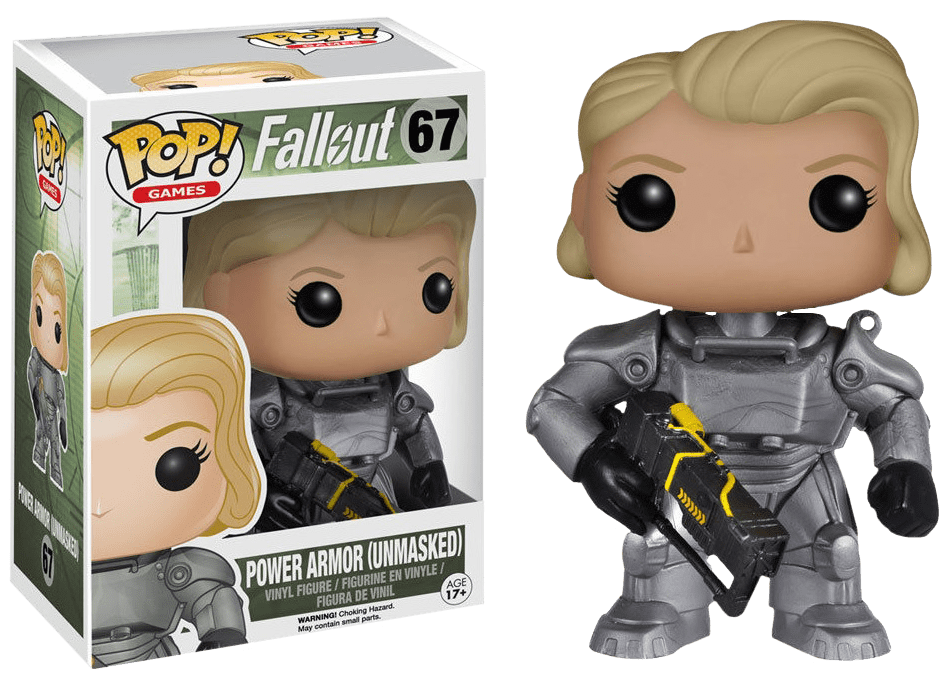 Games: Fallout - Power Armor Unmasked (Female) Pop! Vinyl Figure - More Toys Malaysia