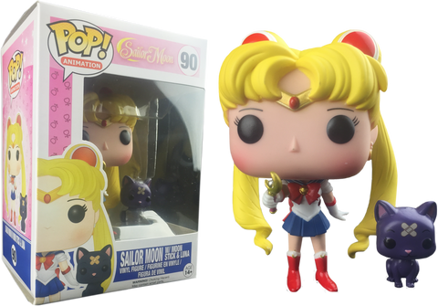 Animation: Sailor Moon - Sailor Moon With Wand & Luna Pop! Vinyl Figure - More Toys Malaysia