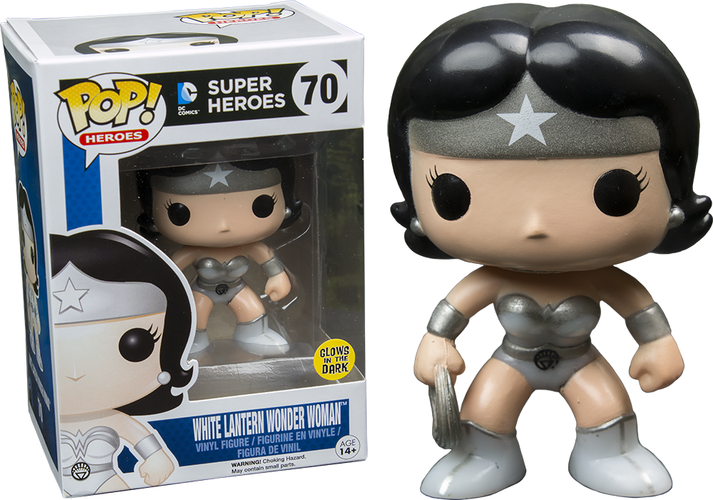 DC: Heroes - White Lantern Wonder Woman (Glows in the dark) Pop! Vinyl Figure - More Toys Malaysia