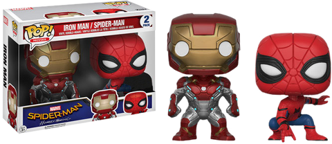 Marvel: Spiderman Homecoming - Iron Man & Spiderman Twin Pack Pop! Vinyl Figure