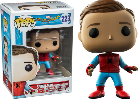 Marvel: Spiderman Homecoming - Spiderman Homemade Suit Unmasked Pop! Vinyl Figure