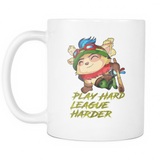 "Teemo - LoL - ""League Harder"" Coffee Mug / Tea Cup"