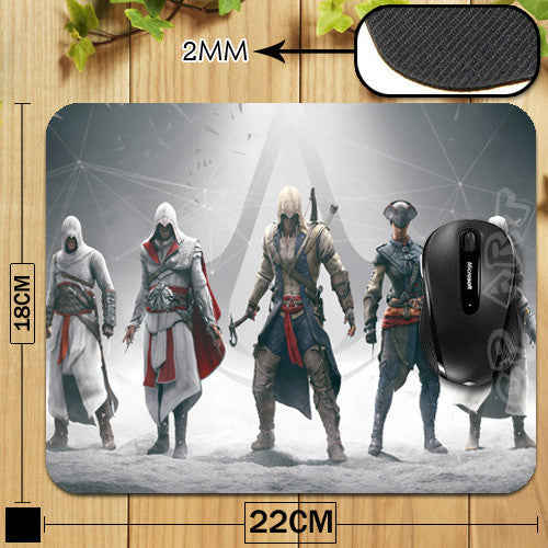 - Assassin Creed Altair Ezio Connor Gaming Mousepad - Favorite Memorabilia