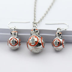 - Star Wars the Force Awakens 3D BB-8 Necklace / Earrings Sets - Favorite Memorabilia