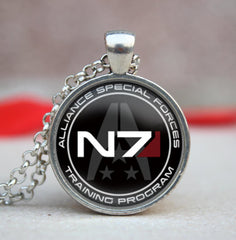 - Mass Effect N7 Alliance Special Forces Training Program - Pendant/ Necklace - Favorite Memorabilia