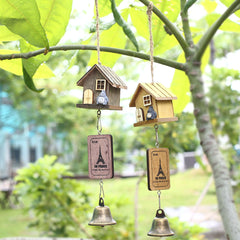 Totoro Designer Wooden House Garden Decor Wind Chimes