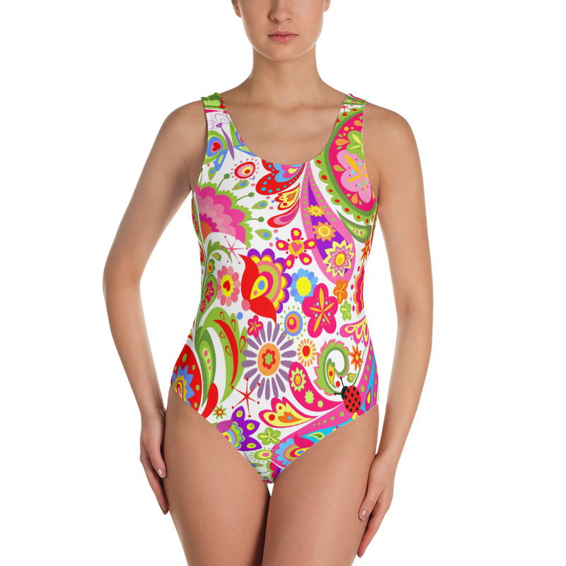 4cabecbb6cc Paisley Paradise One-Piece Swimsuit - Sleek Waist Boutique