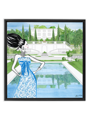 Chanel Haute Couture Spring - Illustration - Canvas Gallery Print - Unframed or Framed - Tiffany La Belle