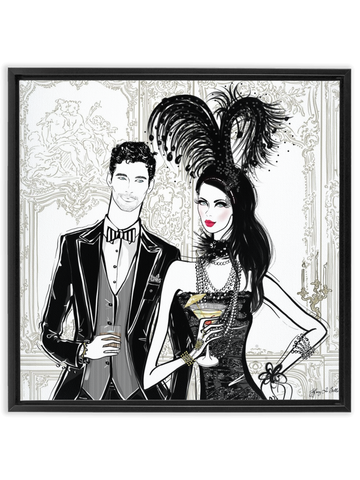 Friday Extravaganza - Illustration - Canvas Gallery Print - Unframed or Framed - Tiffany La Belle