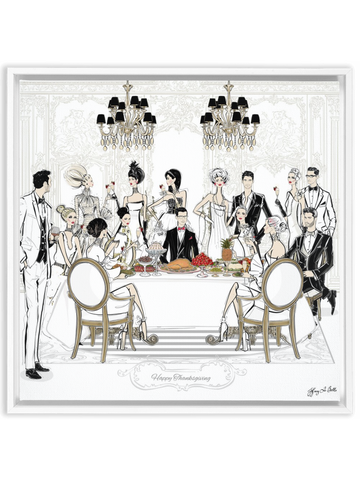 Happy Thanksgiving - Illustration - Canvas Gallery Print - Unframed or Framed - Tiffany La Belle