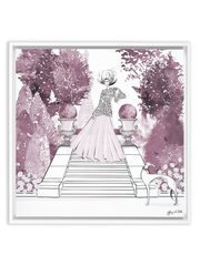 Parisienne Mulberry Garden - Illustration - Canvas Gallery Print - Unframed or Framed - Tiffany La Belle