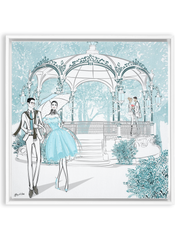 Young Lovers - Illustration - Canvas Gallery Print - Unframed or Framed - Tiffany La Belle